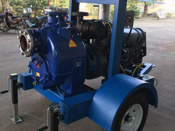 Engine Driven Self-priming Centrifugal Pump on Wheel